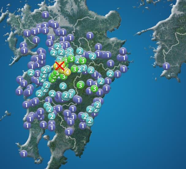 熊本で最大震度4の地震が発生 久留米や大牟田、八女などで揺れを観測
